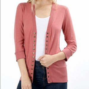 Sweaters - Snap button up cardigan